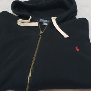Big and tall polo Ralph Lauren zip up hoodie for M